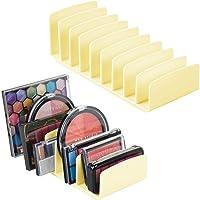 mDesign Organizador de maquillaje para encimeras de baño, tocadores, gabinetes: solución de almacenamiento de cosméticos…