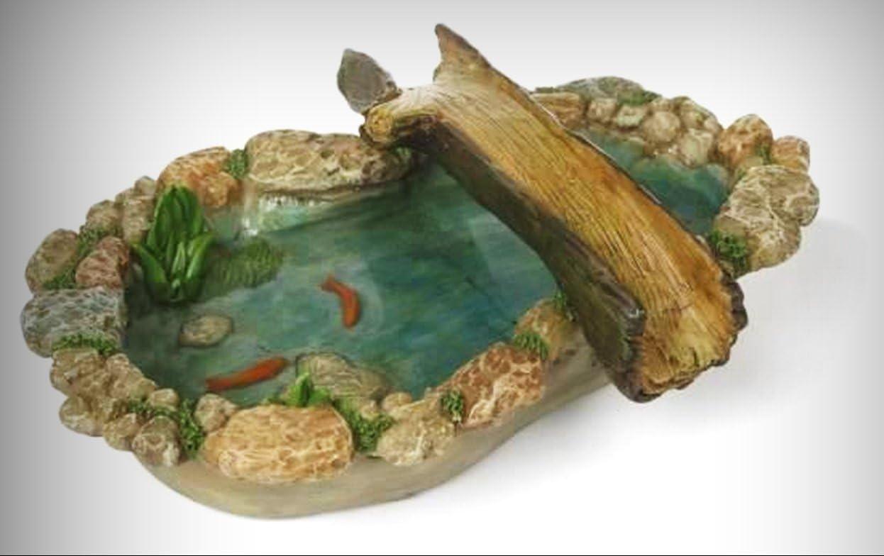 Fairy Lotus Pond Gardens Miniature Home Decor Crafts DIY Dollhouse Xmas Gift Pop