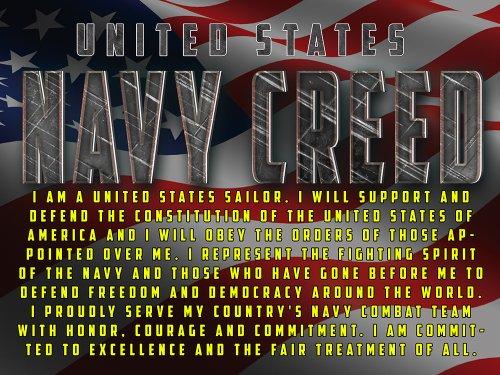 US Navy Creed Poster Navy Gifts Navy Souvenirs Navy Memorabilia V2