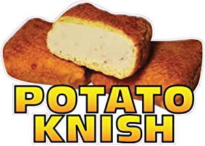 Potato Knish Concession Restaurant Food Truck Die-Cut Vinyl Sticker 18 inches