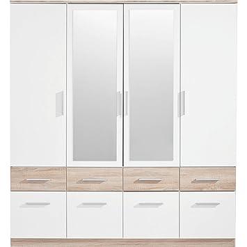 Stella Trading Box 4 Turiger Kleiderschrank Holz Weiss Sonoma 55 X 180 X 198 Cm