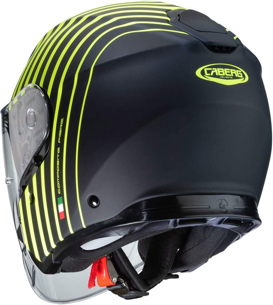 Caberg CASCO FLYON BAKARI MATT BLACK//YELLOW FLUO XS