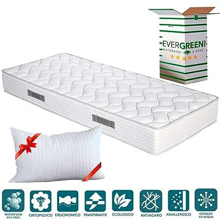 Materasso Ergonomico O Ortopedico.Evergreenweb Materasso Singolo 85x195 In Waterfoam Alto 20 Cm