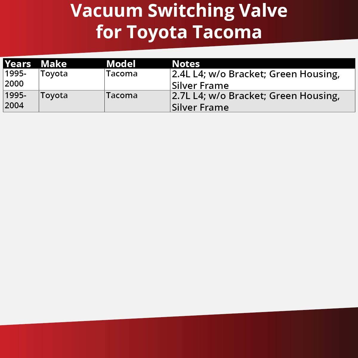 AISIN Vacuum Switching Valve for 1995-2004 Toyota Tacoma 2.7L 2.4L L4 Modulator EGR Solenoid