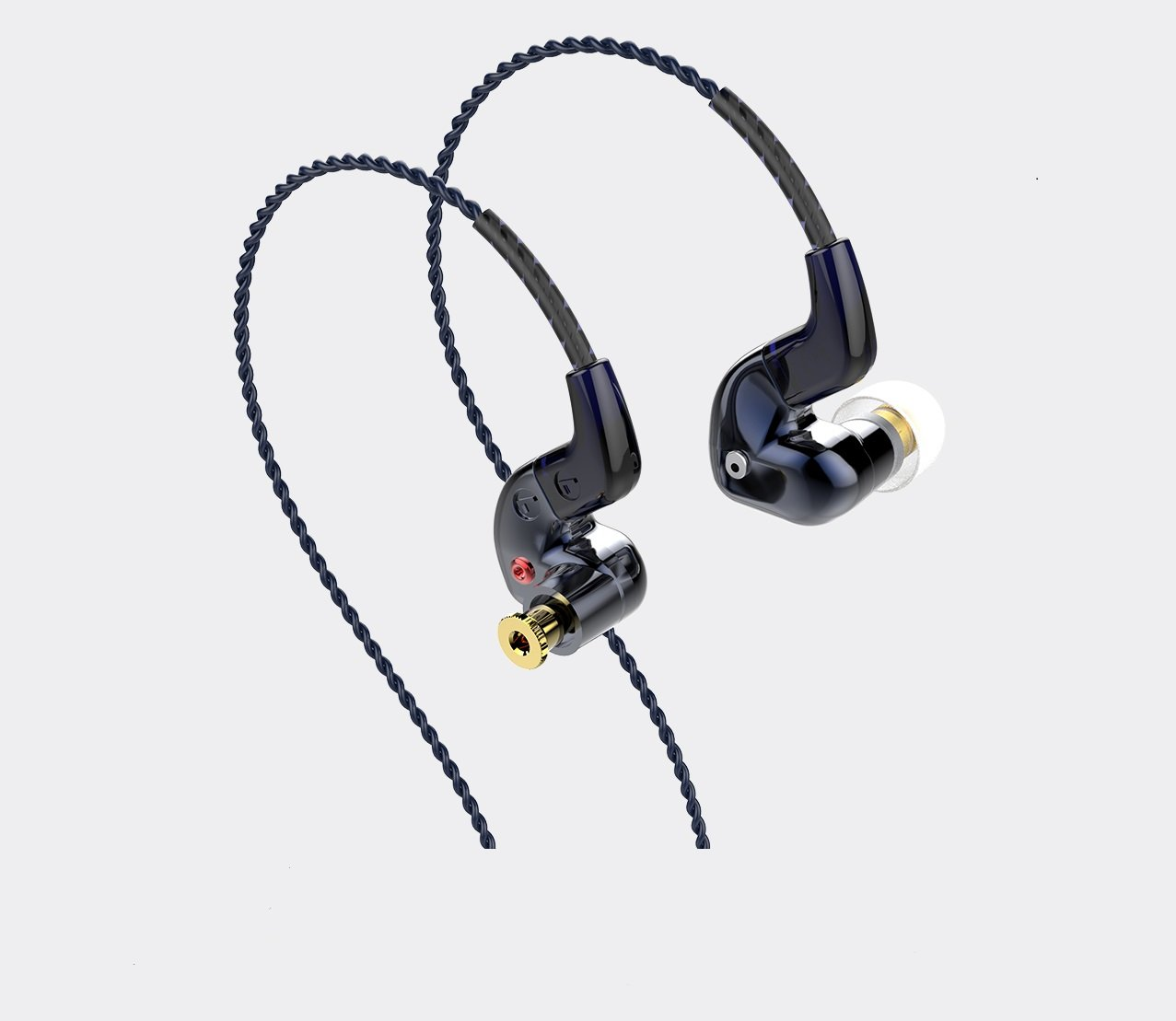 FLC 8S Hybrid Dual Balanced Armature Dynamic Earphones by FLC