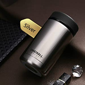 400ml 304 stainless steel vacuum flask kettle thermos coffee glass men's gift thermos bottle protection LU11131734 XI (Color : Steel)