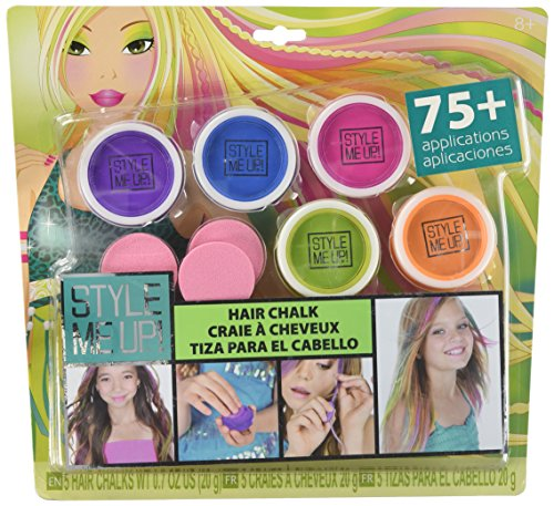 Style Me Up! - Temporary Hair Dye for Girls - Pack of 5 Washable Hair Color Pods - Kids Hair Chalk - SMU-1629 by Style Me Up!
