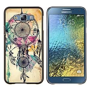 Eason Shop / Premium SLIM PC / Aliminium Casa Carcasa Funda Case Bandera Cover - Catcher indio nativo de la acuarela - For Samsung Galaxy E7 E700