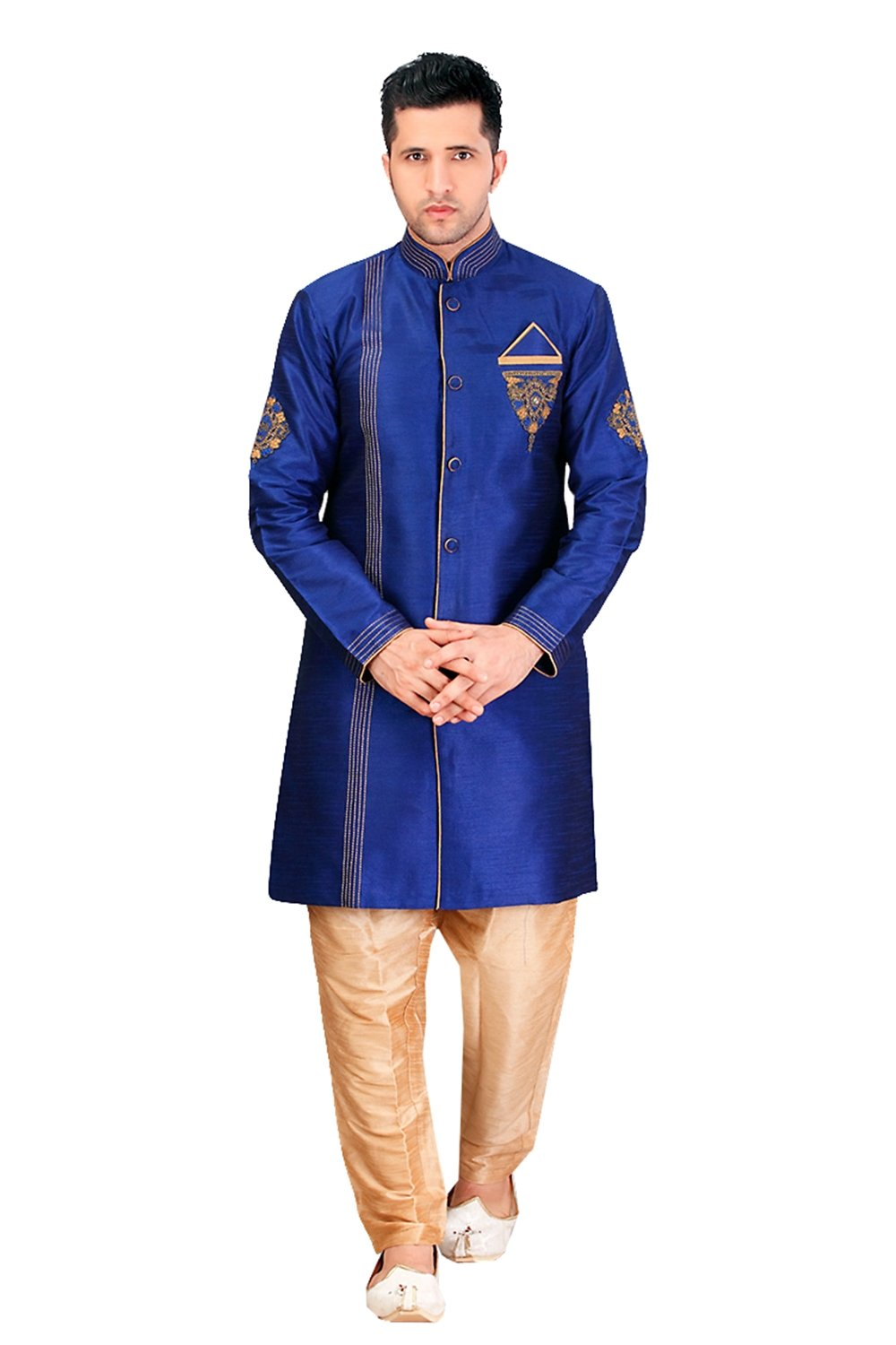 daindiashop-USA Indian Sherwani For Men Readymade Designer Partywear For Wedding Exclusive Fashion Dress