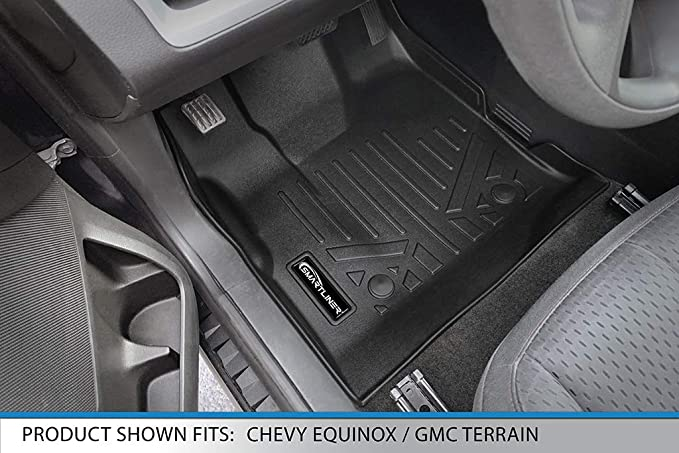 MAXLINER A0119//B0070//D0070 Floor Mats /& Tray Cargo Liner for Equinox//Terrain Dual Floor Post 2011-2017 Black