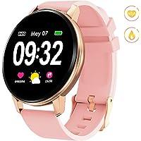 Smartwatch Deporte para Mujer Hombre con Pantalla Completa Táctil Monitores de Actividad Impermeable Outdoor Fitness Tracker con Monitor de Sueño Pulsómetros Cuenta de Pasos Compatible con iOS Android