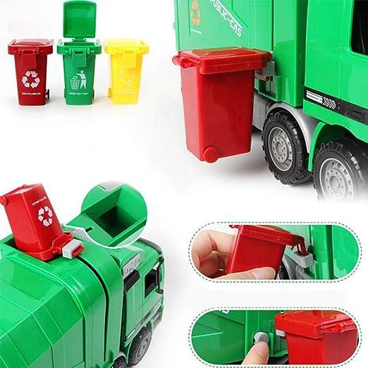 """Teamsterz Camion Bin CAMION Light /& Sound veicolo di riciclaggio dei rifiuti giocattolo grande 14/"""""""