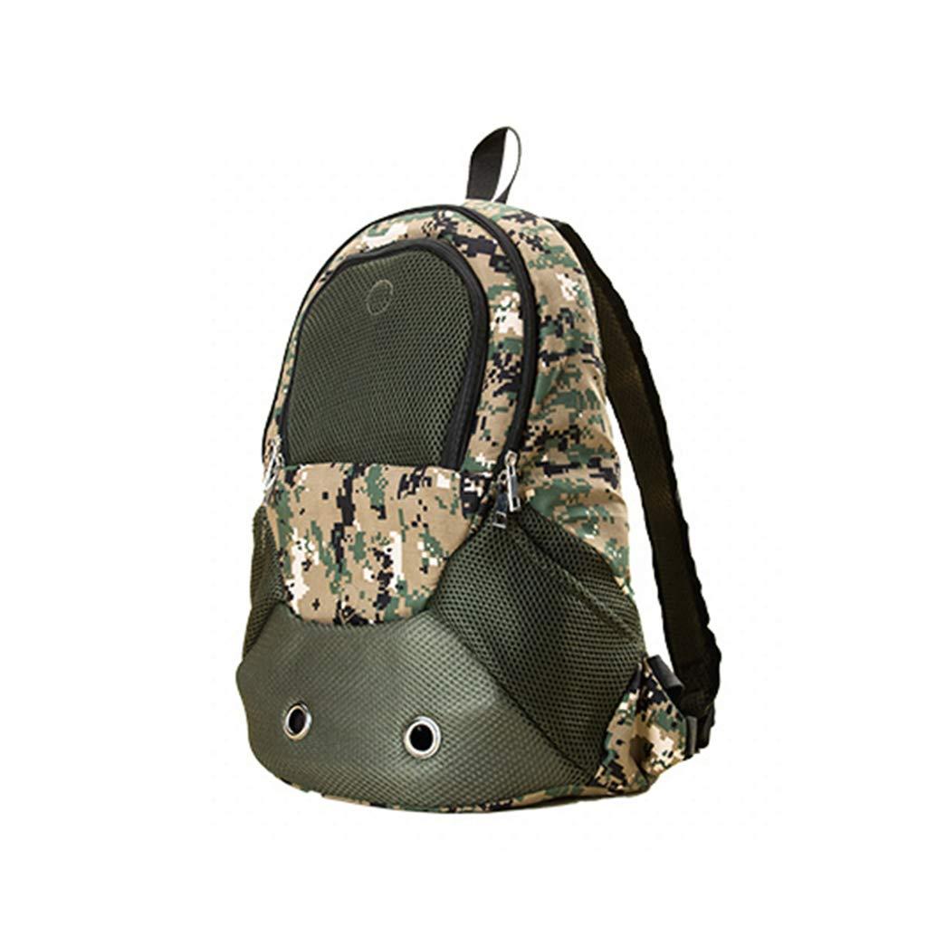 BOY Camouflage off-road pet bag sports backpack dog bag cat bag pet backpack out carrying bag travel bag 31  15  43cm