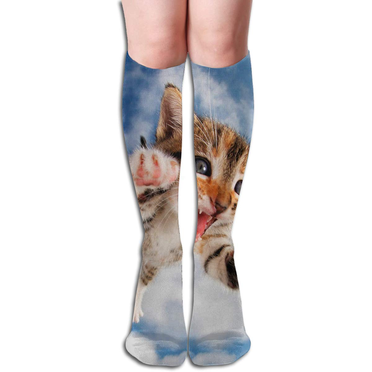 Women Socks Mid-Calf Abstract Music Notes Winter Stylish For Festive
