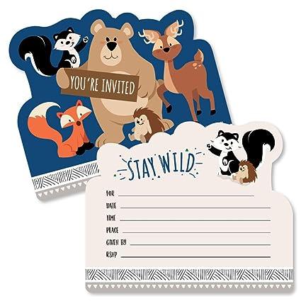 Amazon.com: Stay Wild – Invitaciones de llenado con forma de ...
