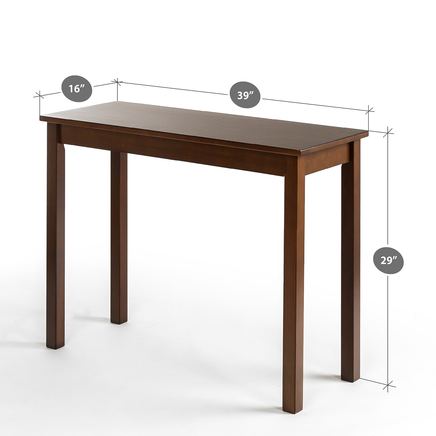 Zinus Espresso Wood Console Table