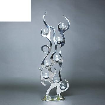 Moderne Kerzenständer europäische moderne aluminium glas kerzenhalter ornamente boden