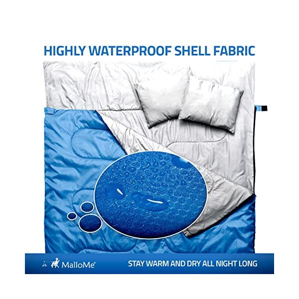 MalloMe-Camping-Sleeping-Bag-3-Season-Warm-Cool-Weather-Summer-Spring-Fall-Lightweight-Waterproof-for-Adults-Kids-Camping-Gear-Equipment-Traveling-and-Outdoors-4