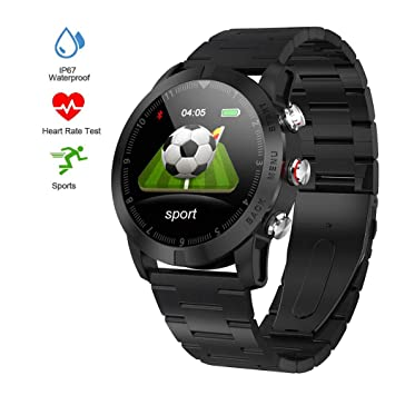 leegoal S10 Smartwatch con Pulsómetro, IP68 impermeable deportes ...
