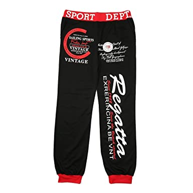 Pantalones de chándal Sueltos de Hip-Hop para Hombre Pantalones ...