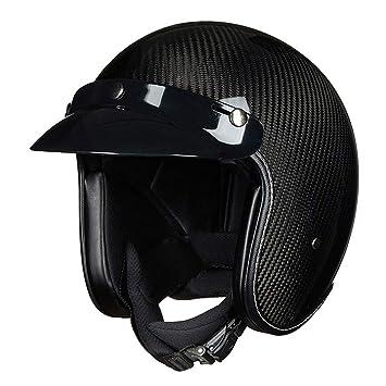 Goney Casco de la Motocicleta, Casco Abierto Adulto de la Fibra de Carbono del Casco