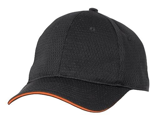 a2a5bf81b24edb Colour by Chef Works BCCT-ORA-0 Cool Vent Baseball Cap, Orange Trim, One  Size, Black: Amazon.co.uk: Clothing