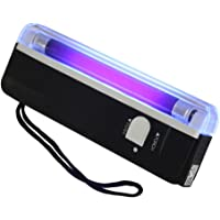 AKDSteel Portable Mini Currency/Money Detector with Ultraviolet Purple Fluorescence Electric Check Lamp Torch Stationery