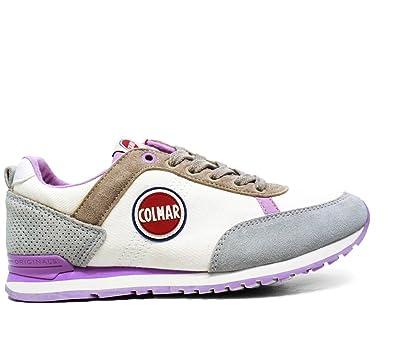 1cd3e8fd38e6d Colmar 045 Couleurs Travis Chaussures Femme Sneakers Nouvelle Collection Printemps  Ete 2016 Fabric 045 Travis Couleurs