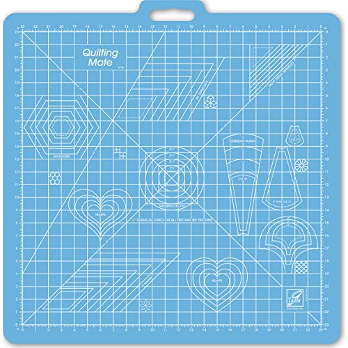 June Tailor 26-Inch-by-27-Inch Gridded with 23-Inch-by-23-Inch GridRotary Mat With Handle by June Tailor