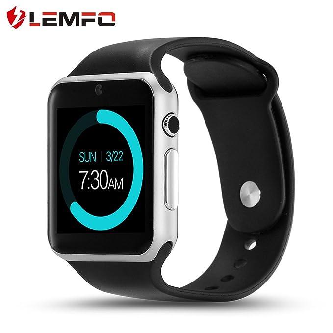 LEMFO iw08 Reloj Inteligente teléfono Celular Fitness Tracker Bluetooth Reloj de Pulsera con cámara para Android Smartphones: Amazon.es: Electrónica