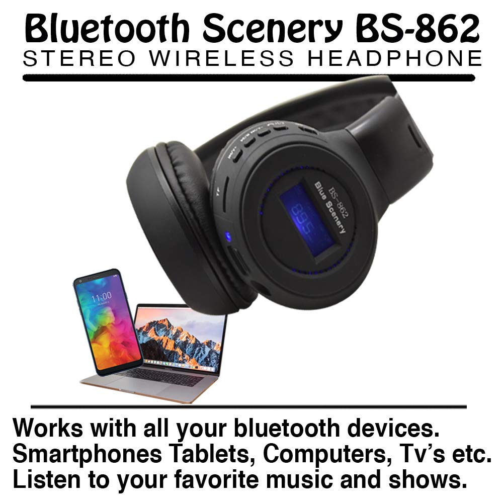 Bluetooth Headphones with FM Radio and SD Card