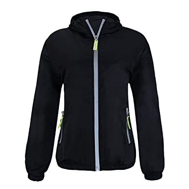 Women&39s Super Lightweight Waterproof Running Sport Windbreaker