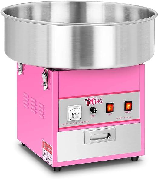 Royal Catering Máquina De Algodón De Azúcar Algodonera RCZK-1200-W (30-60 s Por Porción, Diámetro De La Olla 52 cm, Potencia 1.200 watt): Amazon.es: Hogar