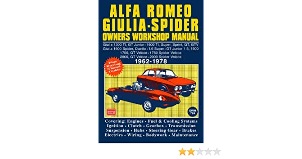 alfa romeo spider owners work manual trade trade ebook amazon com rh amazon com