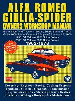 Alfa Romeo Spider Owners Work Manual, Trade Trade, eBook