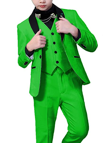 970799f7dedc DGMJDFKDRFU Wedding Suit for Boys Green Formal Dress Suit Slim Fit Classic  3 Piece Tuxedo for