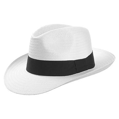 White Mountain Paper Straw Hat (Fedora) with Grosgrain Ribbon  2641500ebf2