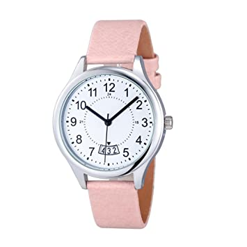 Relojes Pulsera Mujer, Xinan Fecha Satin Cuero Deporte Analógico Cuarzo Reloj de pulsera del ejército (Rosa): Amazon.es: Deportes y aire libre