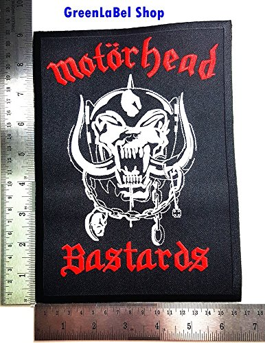 Big Large Jumbo MOTORHEAD Bastards Music Band Punk Rock Heavy Metal Rock Music Band Patch Logo Sew Iron on Embroidered Appliques Badge Sign Costume Send Free Registration