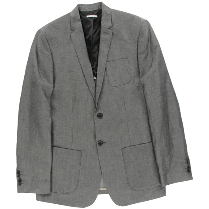 Calvin Klein Hombres 40YJ415 Blazer o abrigo de deporte - negro - X-Large Regular: Amazon.es: Ropa y accesorios