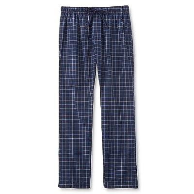 Bottoms Out Men's Pajama Pants-Plaid Cotton Blend Mens Medium Blue at Men's Clothing store
