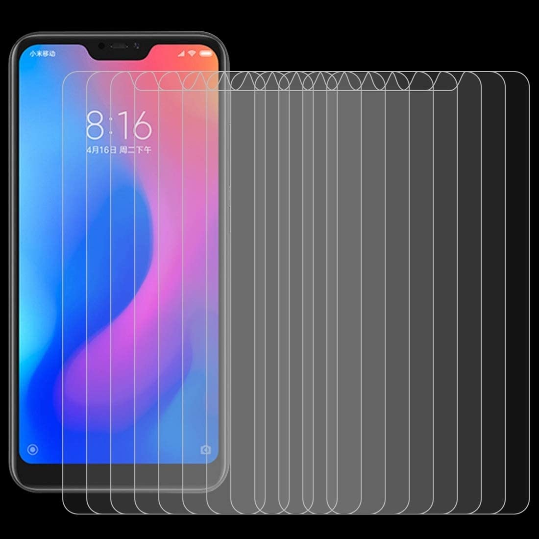 DESHENG Clear Screen Protector 0.26mm 9H Surface Hardness 2.5D Curved Edge Tempered Glass Film for Xiaomi Redmi Note 6 Pro//Note 6 Glass Film