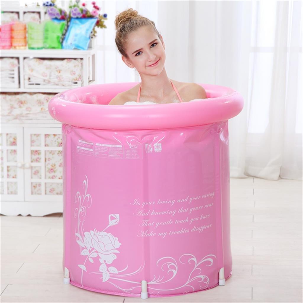 DELLT- Più spesse Botti Water Saving Vasca da bagno per adulti Vasca da bagno gonfiabile Tub Tubing Barrel Bath ( Colore : Included lid , dimensioni : 58*65 cm )