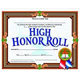 Hayes School Publishing VA686 High Honor Roll- Set of 30 8.5'' X 11'' Certificates