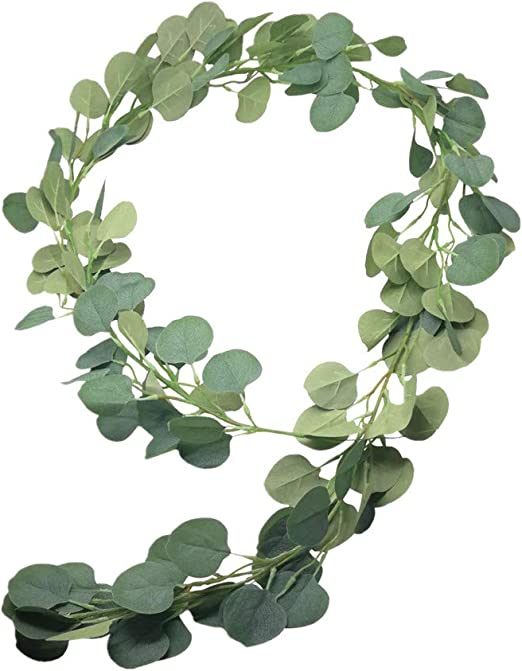 Artificial Greenery Garland Faux Silk Eucalyptus Vines Wreath Wedding Wall Decor