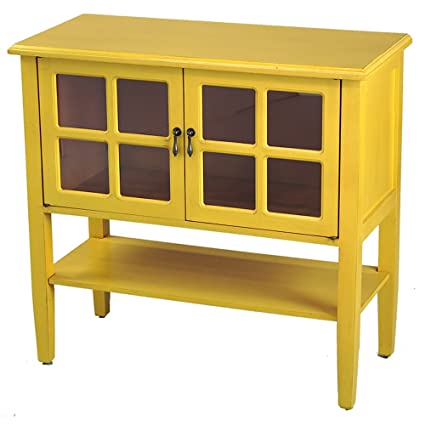 accent console cabinet furnishings accent heather ann creations modern door accent console cabinet with pane glass insert and bottom amazoncom