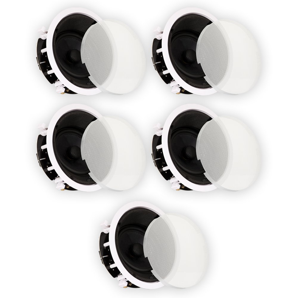 Theater Solutions TSS6A Home Theater Deluxe In Ceiling 6.5'' Angled 5 Speaker Set 5TSS6A by Theater Solutions