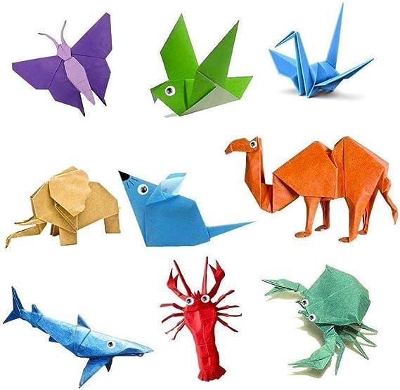 WENTS 150 Fogli 3 Misure 50 Colori Chiari Origami Lato Singolo Per Carta Pieghevole Per Bambini Progetti Artistici e DIY Origami Creativi Carta da Origam