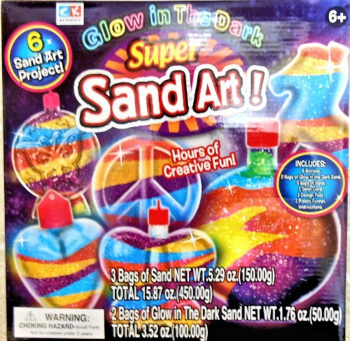 CK Activity Glow in the Dark Super Sand Art Kit - 6 Sand Art Projects ()