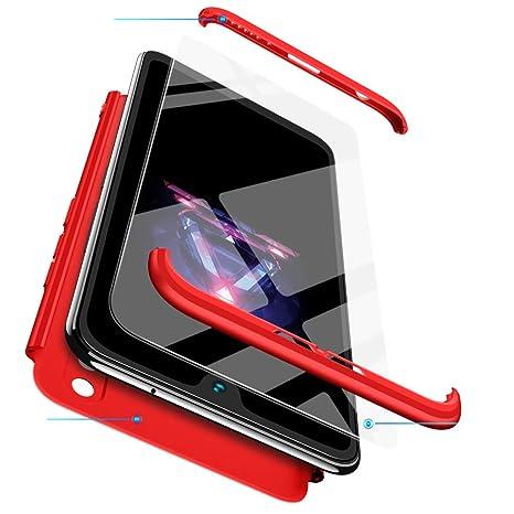 2ndSpring iPhone 7 Plus Funda + Cristal Templado,Carcasa iPhone 7 Plus 360 Grados Integral para Ambas Caras, Luxury 3 in 1 PC Hard Skin Case Cover ...
